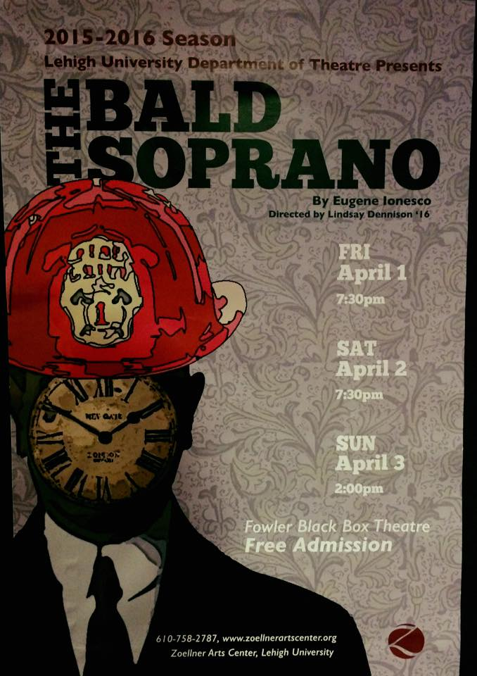 The Bald Soprano Opens Tonight!!